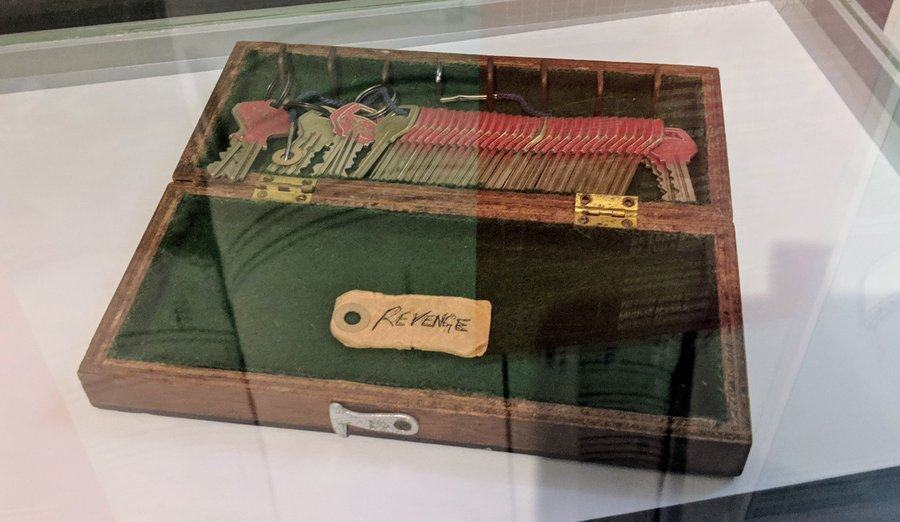 Wooden box with a set of 50 keys