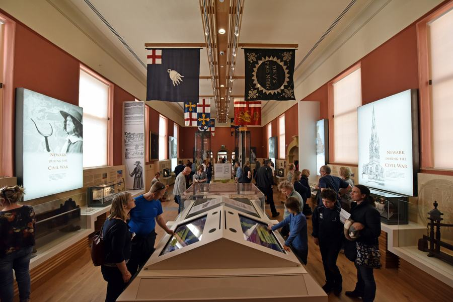 Visitors at the National Civil War Centre