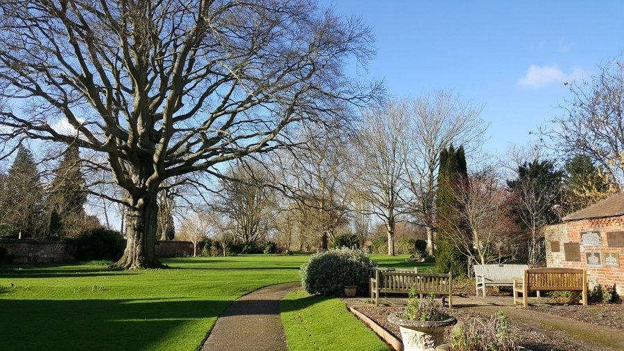 Garden at the Rifles Berkshire and Wiltshire Museum, Salisbury