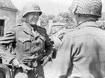 Patton talking to a soldier