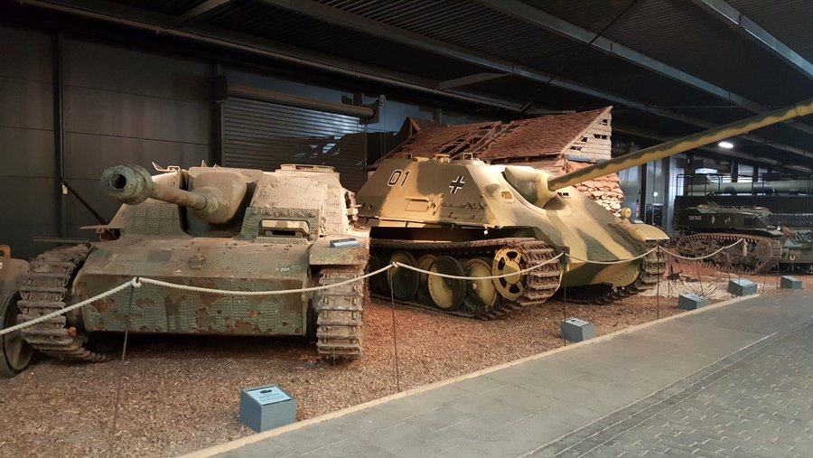 German Stug III and Jagdpanther