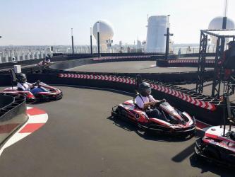 Go-Karts on Norwegian Bliss cruise ship