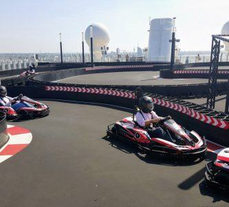 Go-Karts on Norwegian Bliss cruise ship