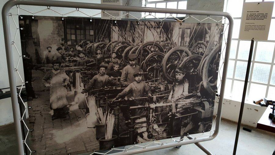 historic photo of a machine shop