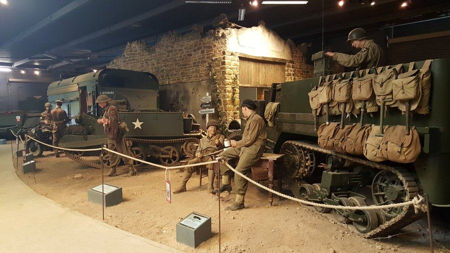Headquarters scene at Land Warfare museum, Duxford