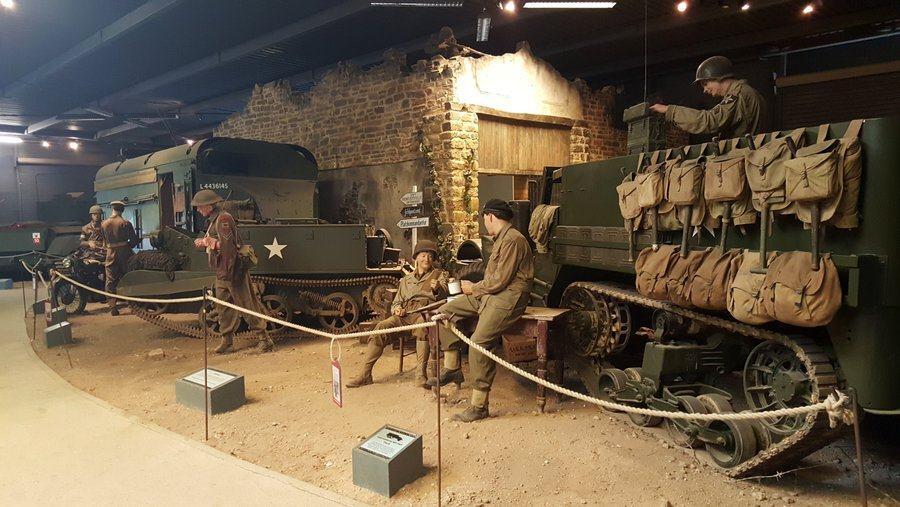 Headquarters scene at Land Warfare museum, Duxford