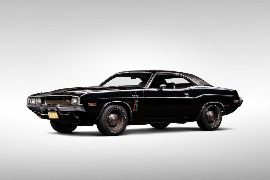 Black painted Dodge Challenger 'muscle car'