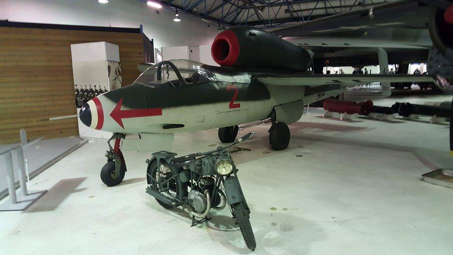 Small german jet with the engine mounted on the back