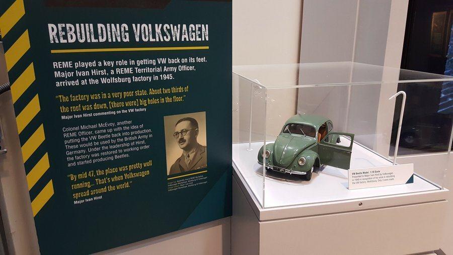 REME museum display of Major Hirst
