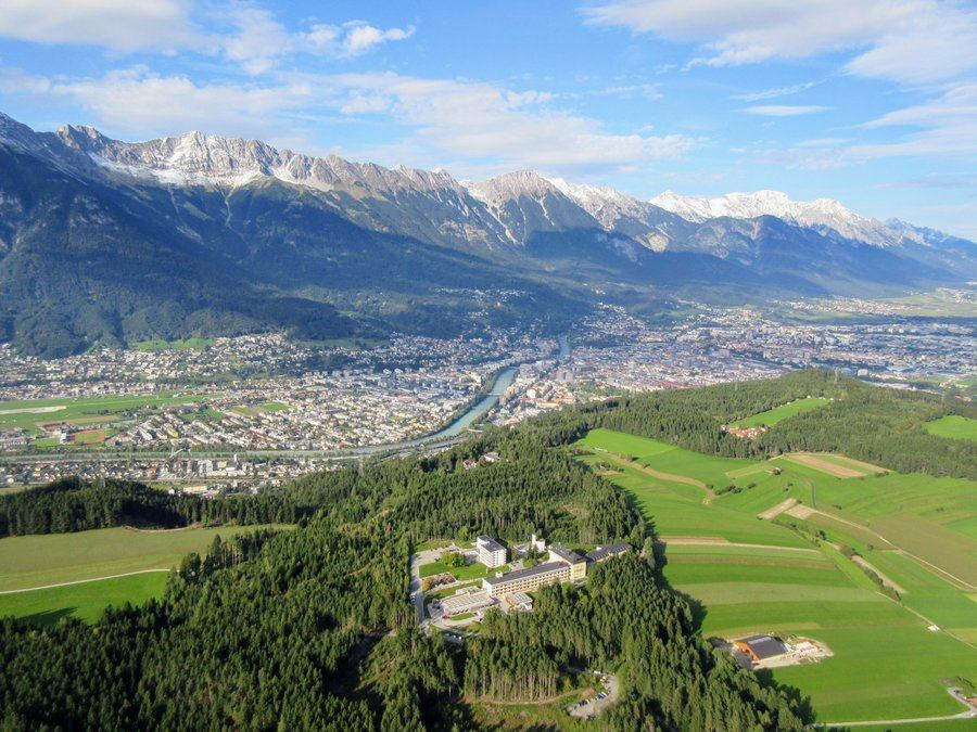 Aerial view of the Innsbruck Valley