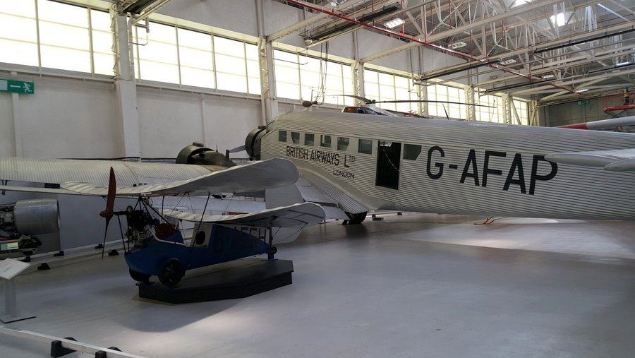 Junkers JU 52 in British Airways livery at RAF Cosford museum