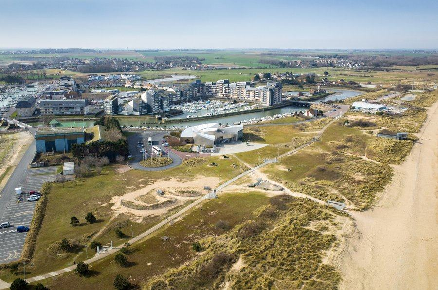 Aerial view of the Juno Beach Centre
