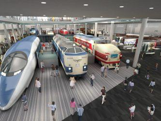 CGI impression of new Kyoto railway Museum interior
