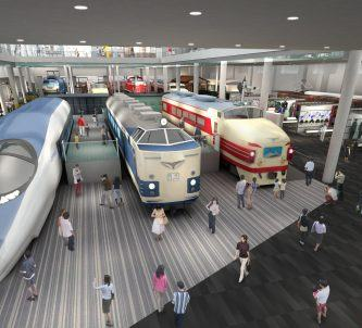 CGI impression of new Kyoto railway Museum interior
