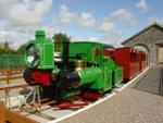 Green monorail steam engine