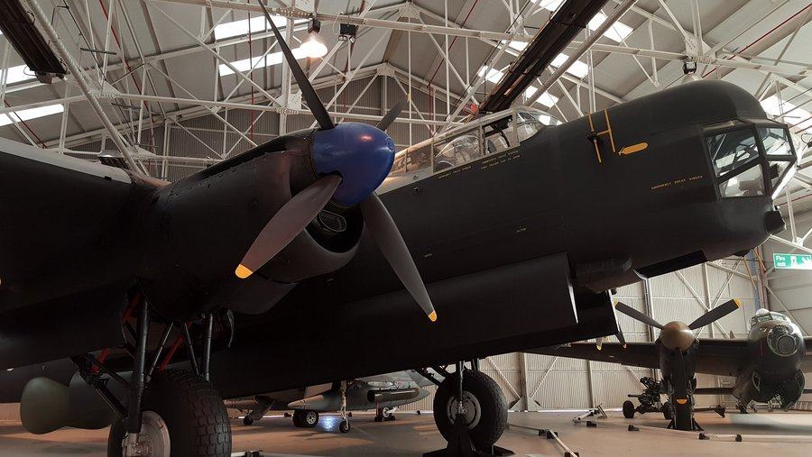 The nose of an Avro Lincoln.