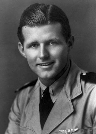 Black & white photo of Lt. Joseph P. Kennedy Jnr in uniform