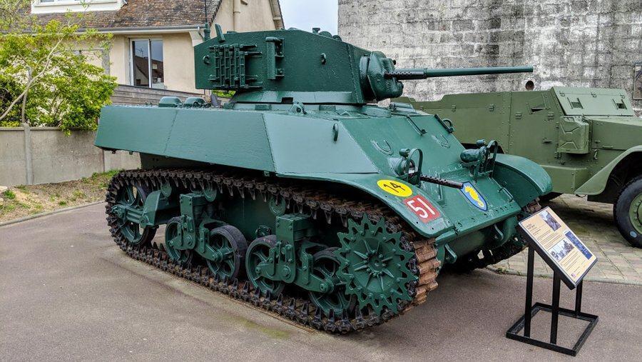 Small green tank