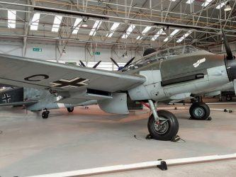 Messerschmitt ME 410 starboard side at RAF Cosford museum