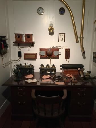 A reproduction of the radio telegraph room on Titanic