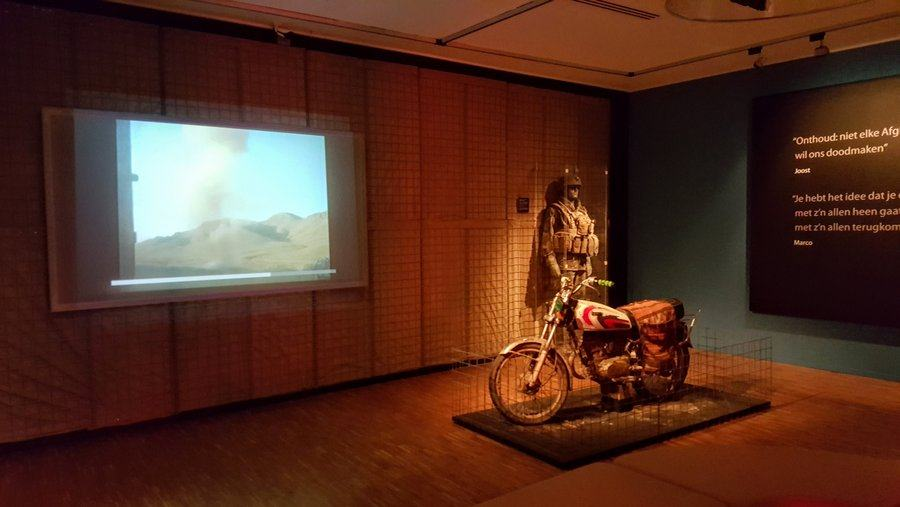 Gallery with motorcycle
