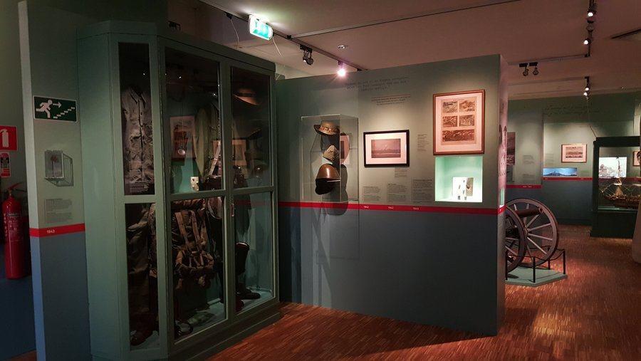 Display area at Mariniers Museum