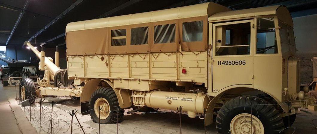 Matador truck and towed 6.6-inch gun