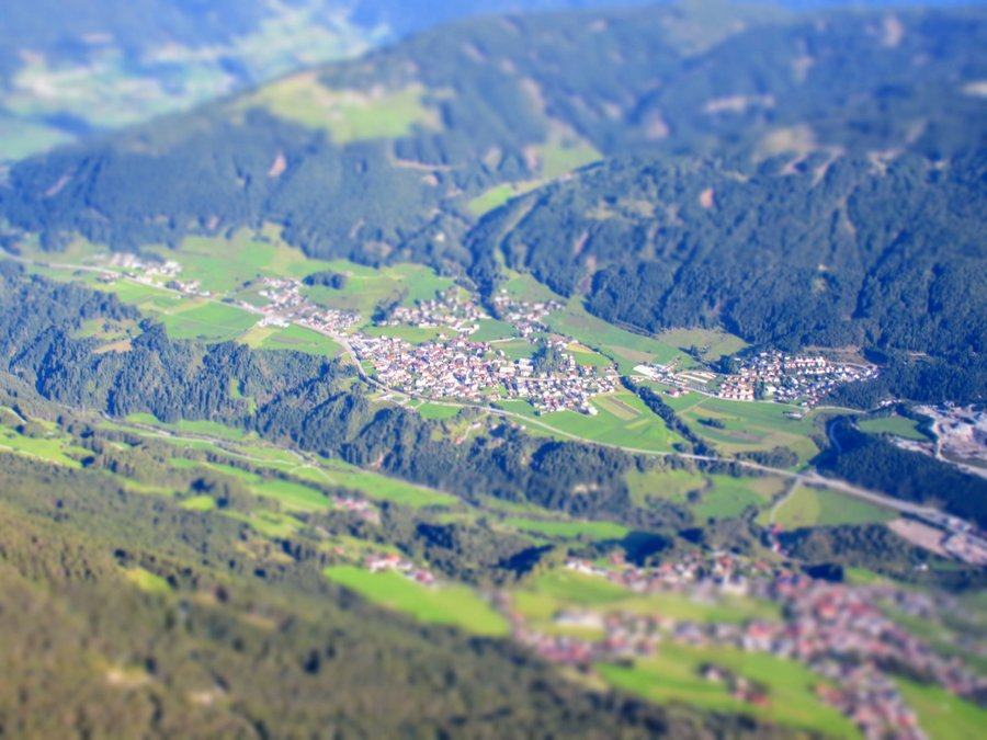 Aerial view of Mauern, Austria