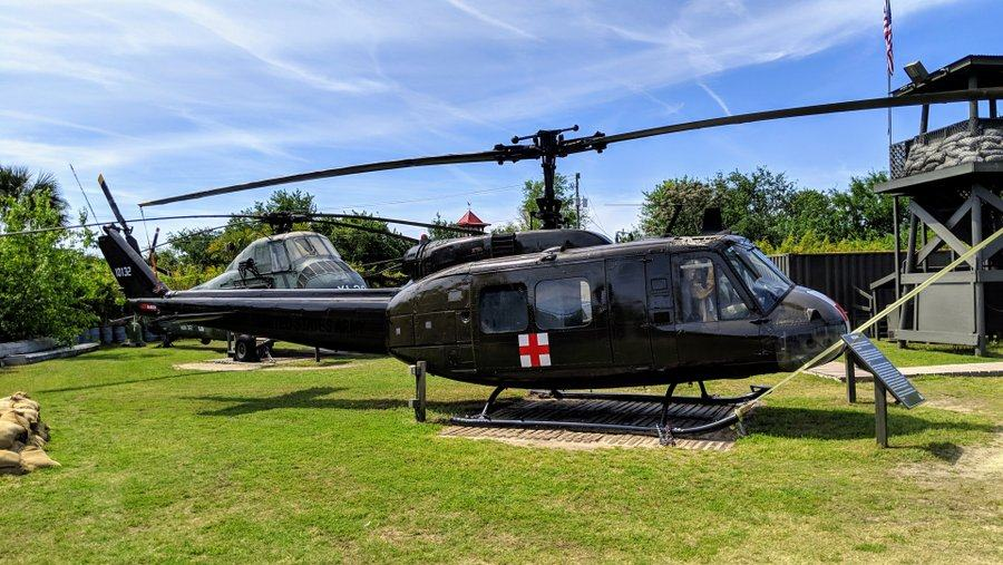 Helicopter with a Red Cross symbol