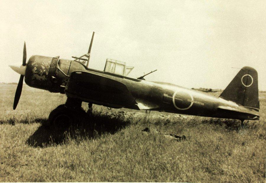 Mitsubishi Ki-51-1 'Sonia' parked on an unidentified airfield