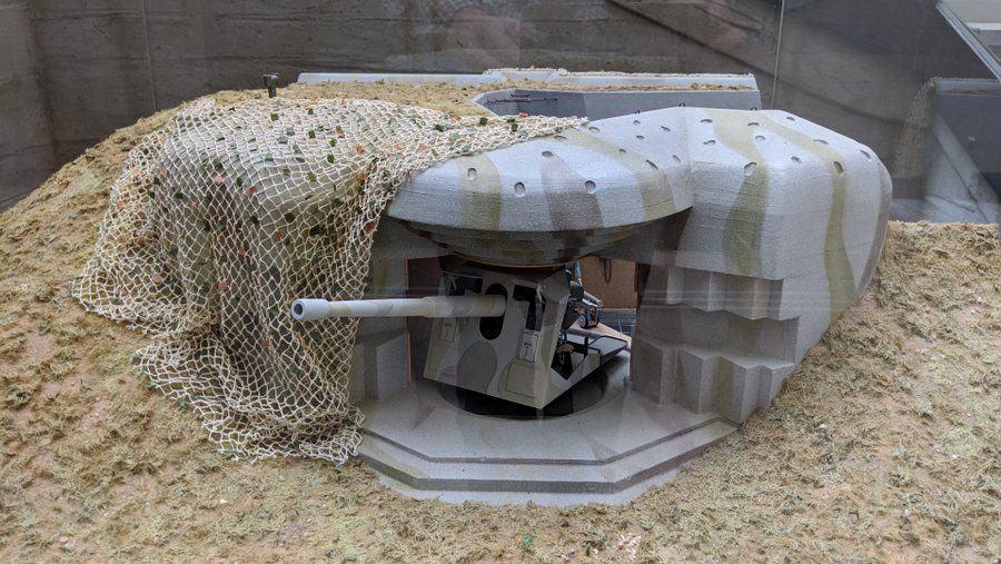 Grey model of a german gun emplacement