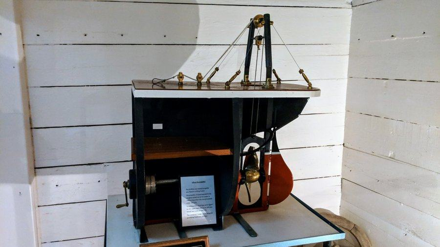 Model stern section of the ship