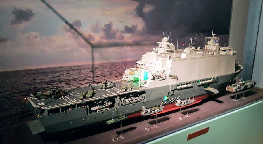 Display model of Dutch marine landing ship