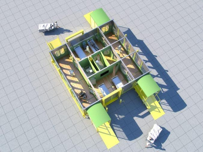 Aerial cutaway view of a core module
