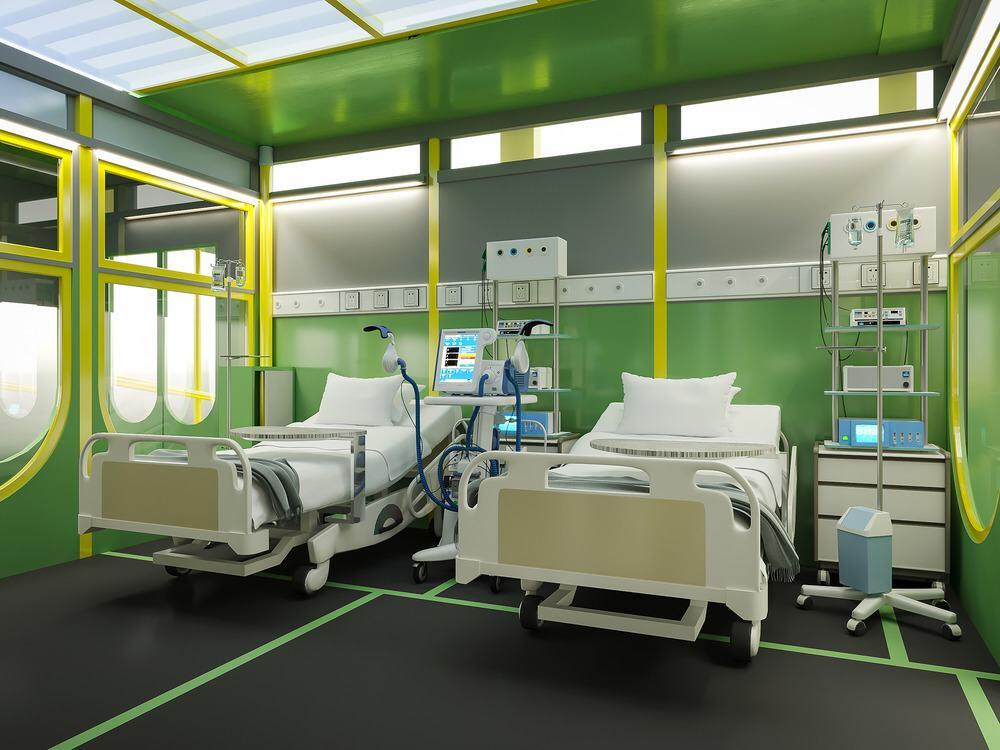 Hospital room with beds & equipment
