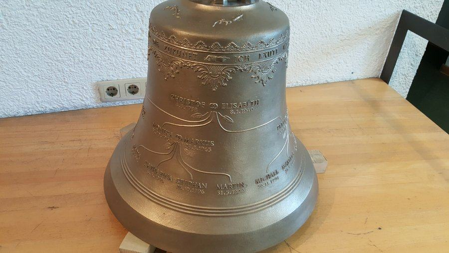 Bell with family tree inscription