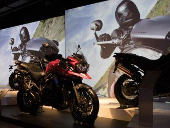 Motorcycles at Triumph Visitor Experience