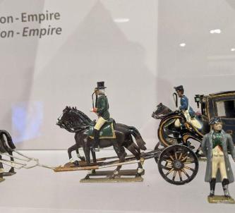 Napoleon figurine with coach and horses