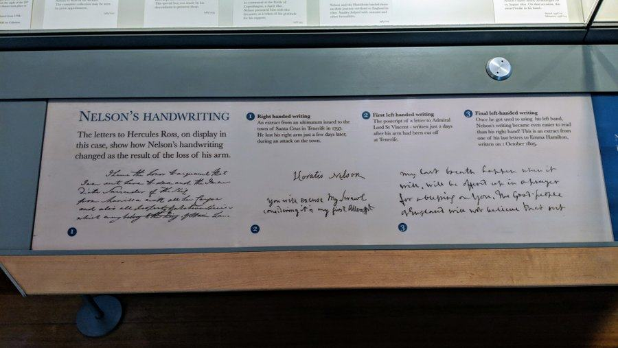 An annotated display of scrawly writing