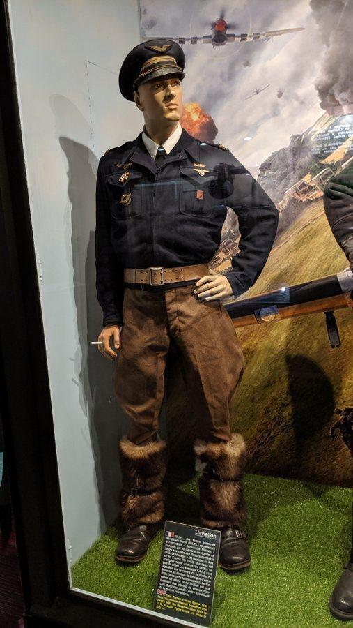 Pilot with brown fur leggings