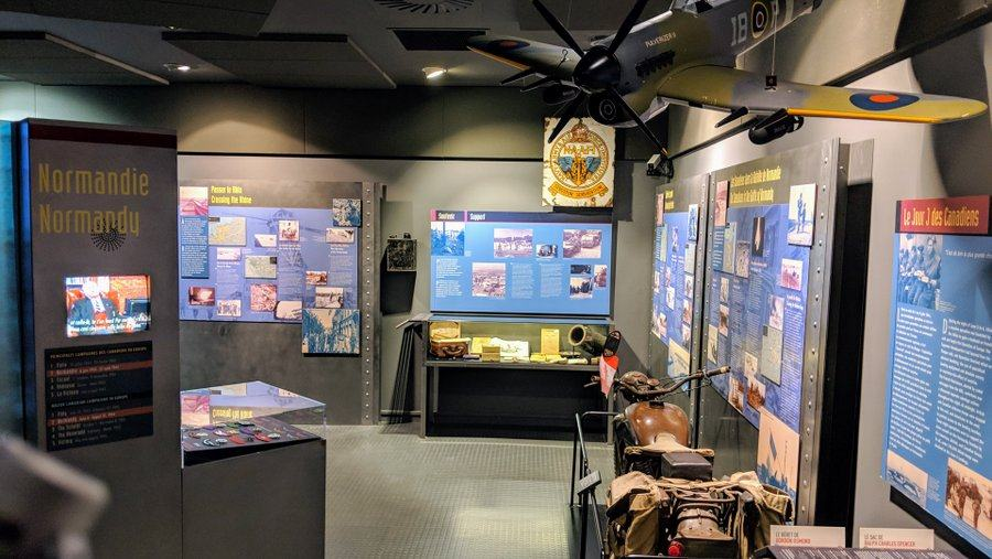 Small museum gallery with displays on the walls