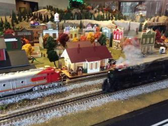 A model steam train