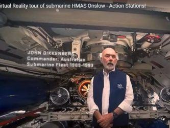 Screenshot from video tour of HMAS Onslow