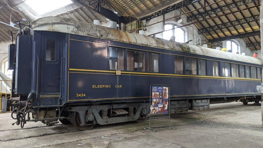 Shabby looking Orient Express Pullman carriage