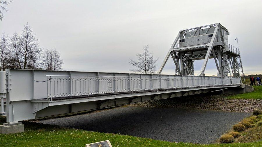 Pegasus bridge from the west end