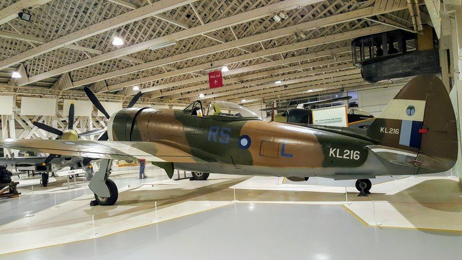 Brown and green camouflaged fighter