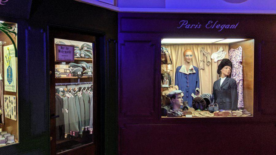 Closer look at recreated wartime Paris shop windows