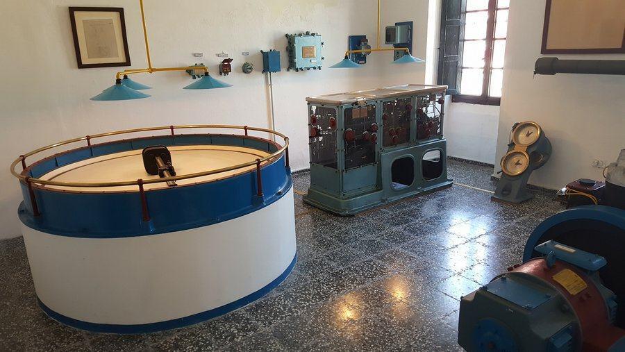 15-inch gun fire control room