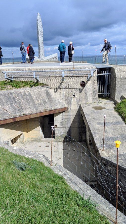 Steps down into the Observation Bunker complex