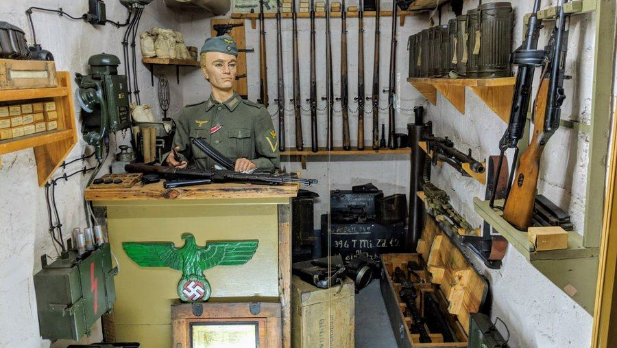 A German quartermaster in his armory